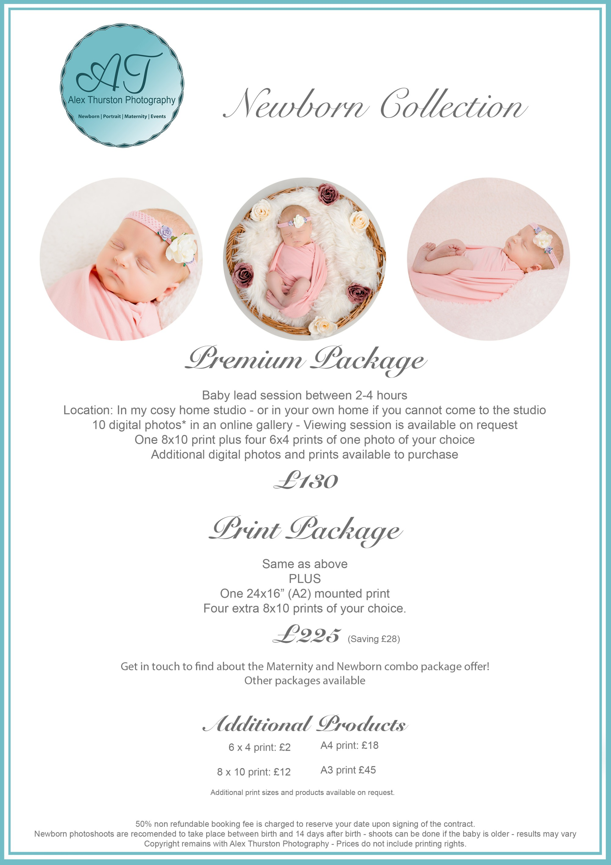Newborn Price List